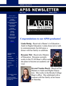 May 2014 Newsletter First Page